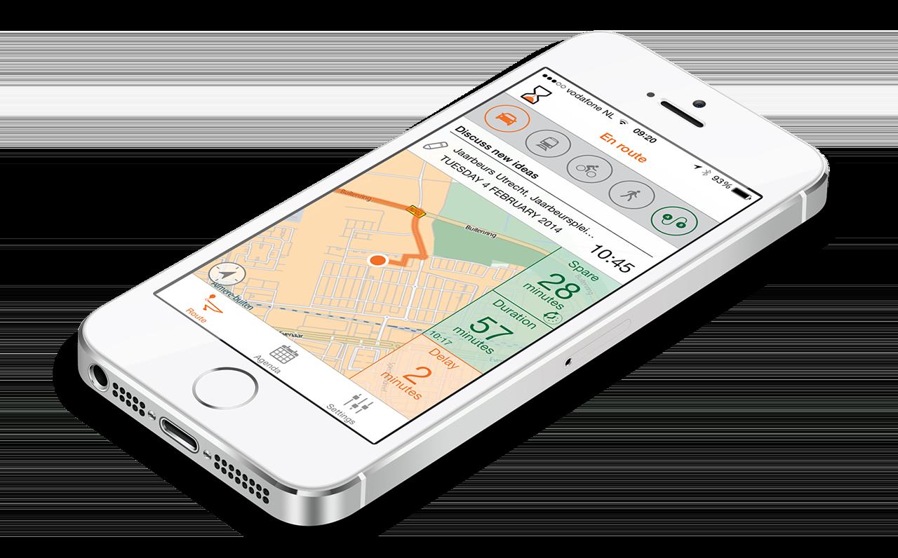 TimesUpp iPhone reistijd file alarm