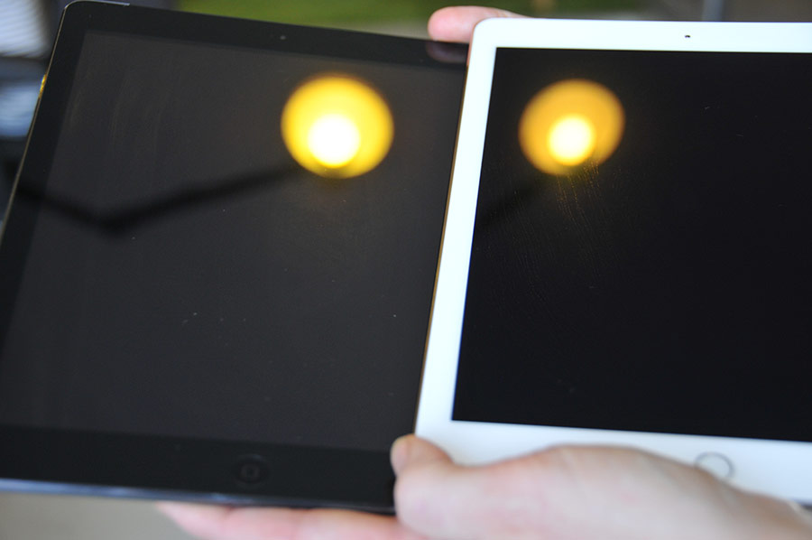 iPad Air 2 review spiegeling van scherm