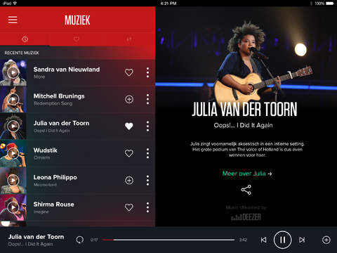 The Voice of Holland RedRoom iPad