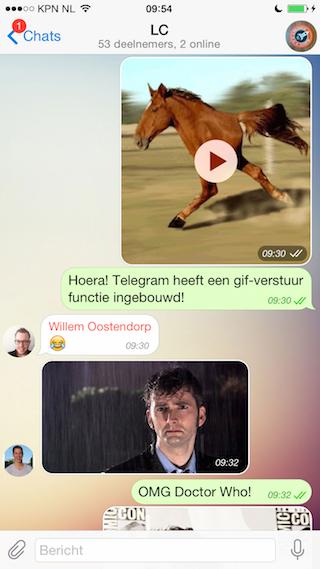 Telegram iPhone chatten