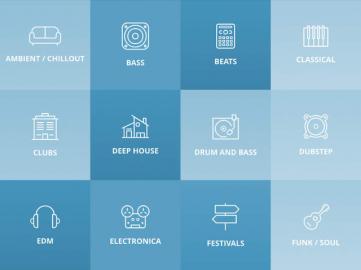 Mixcloud iPad muziekgenres kiezen