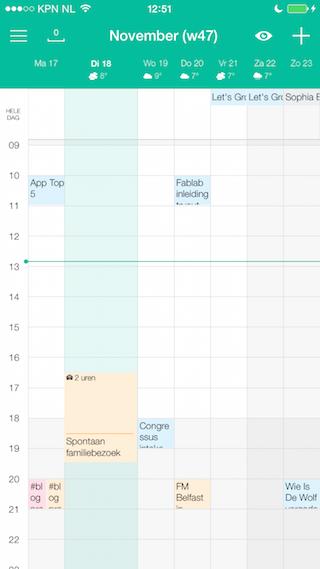 Wave Calendar review week