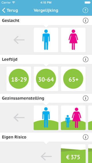 Zorgverzekering wijzer iPhone app