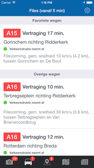 Flitsmeister dashboard wegen iPhone
