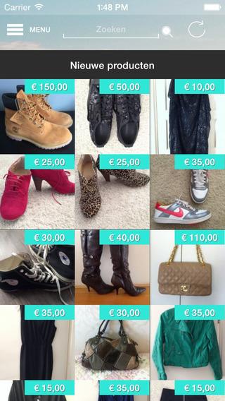 Tweedehands kleding-app iPhone nieuwe producten