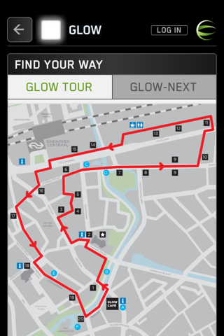 glow route info
