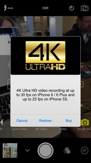 ProCam 2 4K Ultra filmen