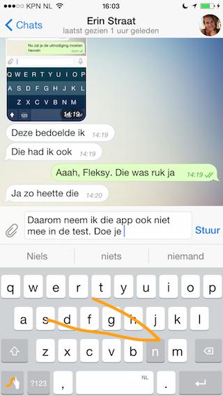 iOS 8 toetsenbord swipen met Swype