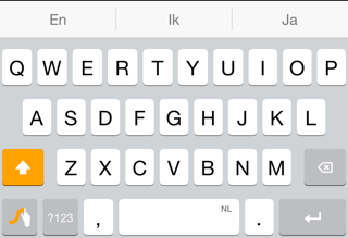 iOS keyboards Swype design