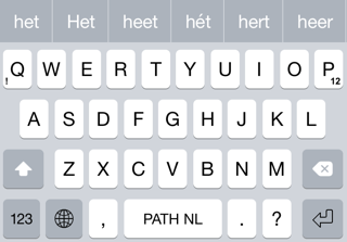 iOS 8 keyboards Path Input design