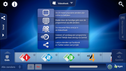 KPN iTV Online hoofdscherm