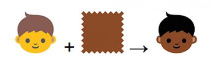 Emoji huidskleuren
