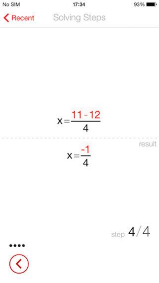 PhotoMath antwoord stapsgewijs uitleggen