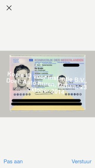 KopieID iPhone paspoort beschreven