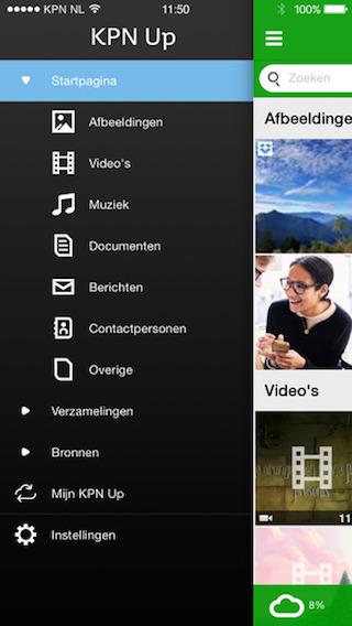 KPN Up iPhone cloudopslag app 320