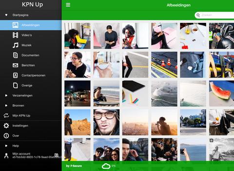KPN Up cloudopslag app iPad