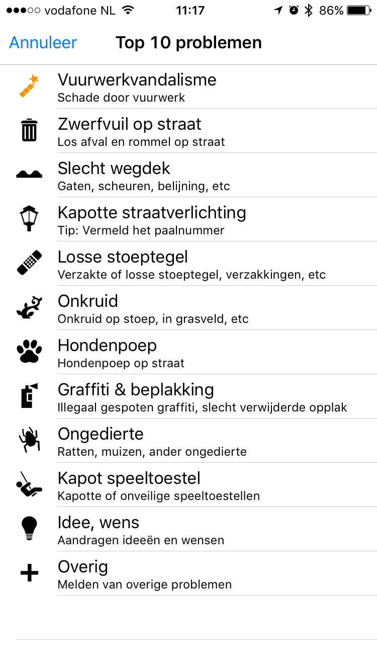 BuitenBeter-app voor het melden van vuurwerkoverlast.