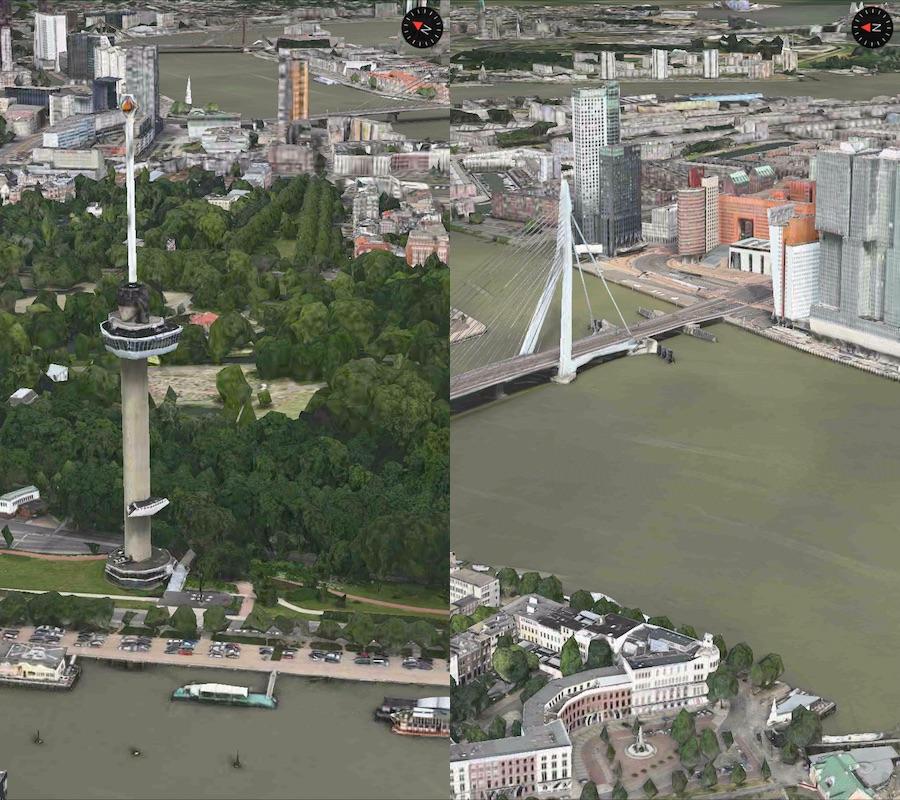 Flyover Rotterdam Euromast brug