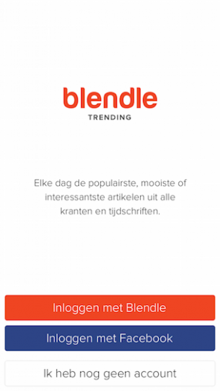 Blendle Trending splash