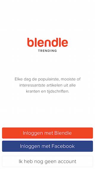 Blendle Trending splash