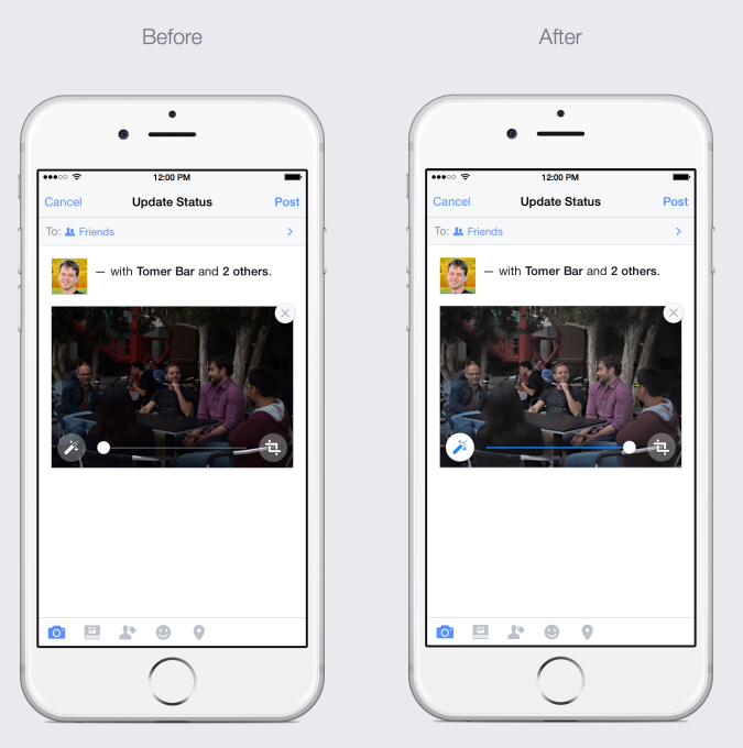 Facebook automatische foto's