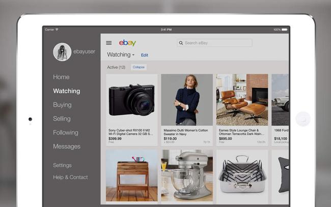 eBay iPad boos om update