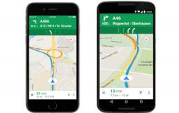 Google Maps rijstrookbegeleiding iOS