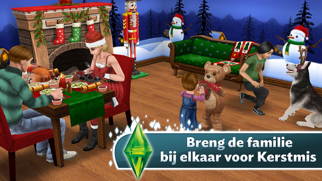 De Sims Freeplay kerst iPhone iPad