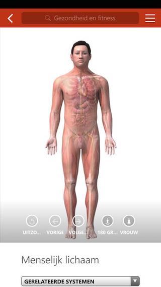 MSN Gezondheid en Fitness iPhone menselijk lichaam
