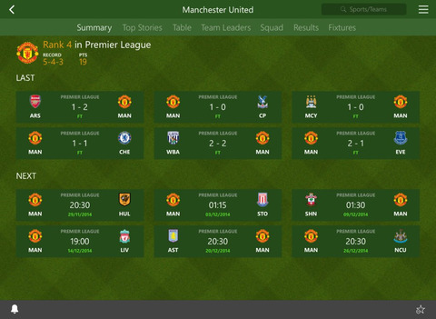 MSN Sport iPad iPhone