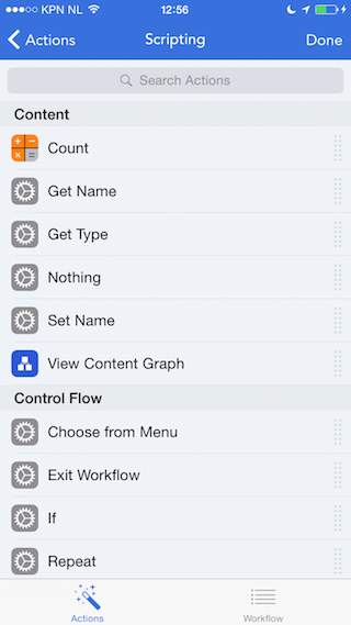 Workflow review app oppakken