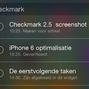 Checkmark widget featured