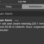 Regenmelding notificatie
