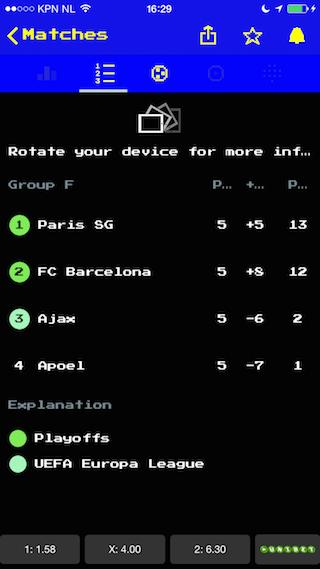 Forza Football iPhone groep CL Ajax