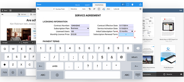 PDF Office iPad screenshots