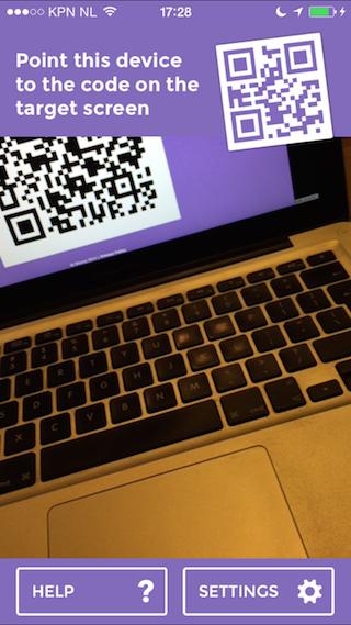 Ghump review iPhone QR-code scannen