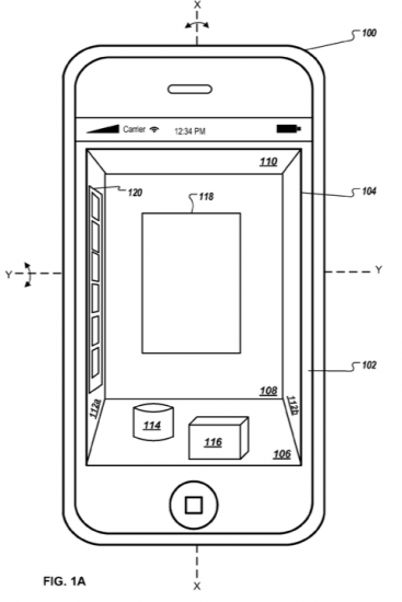 Patent iPhone 3D interface