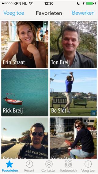 Humin iPhone contacten app favorieten