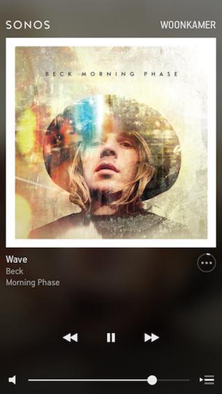 Sonos Controller iPhone app muziek luisteren