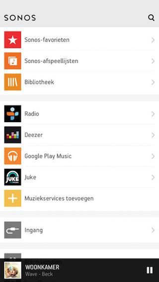 Sonos Controller App kanalen