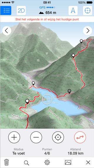Maps 3D Pro waypoints zetten iPhone