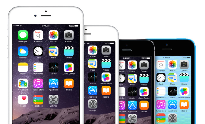 iPhones schermvergelijking