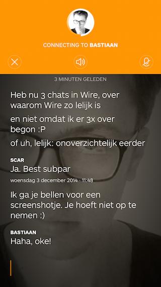 Wire review bellen in de app