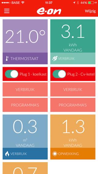 Eon EnergieAssistent iPhone dashboard