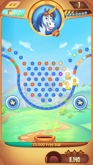 Peggle Blast ballen stuiteren iPhone
