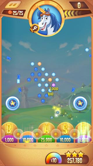 Peggle Blast einde van een level iPhone