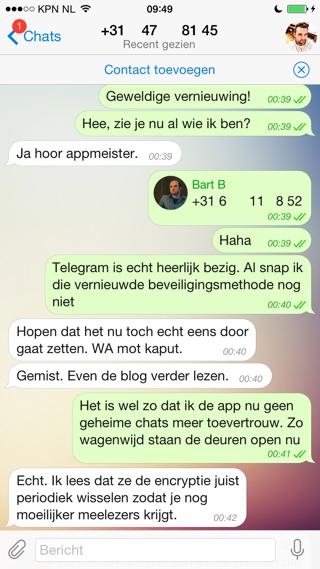 Telegram chatten vanuit link