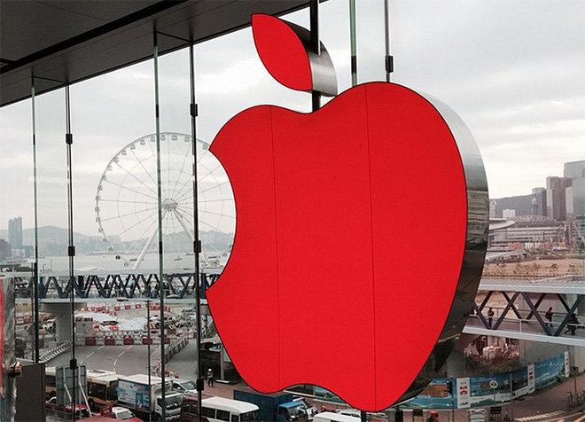 apple logo rood