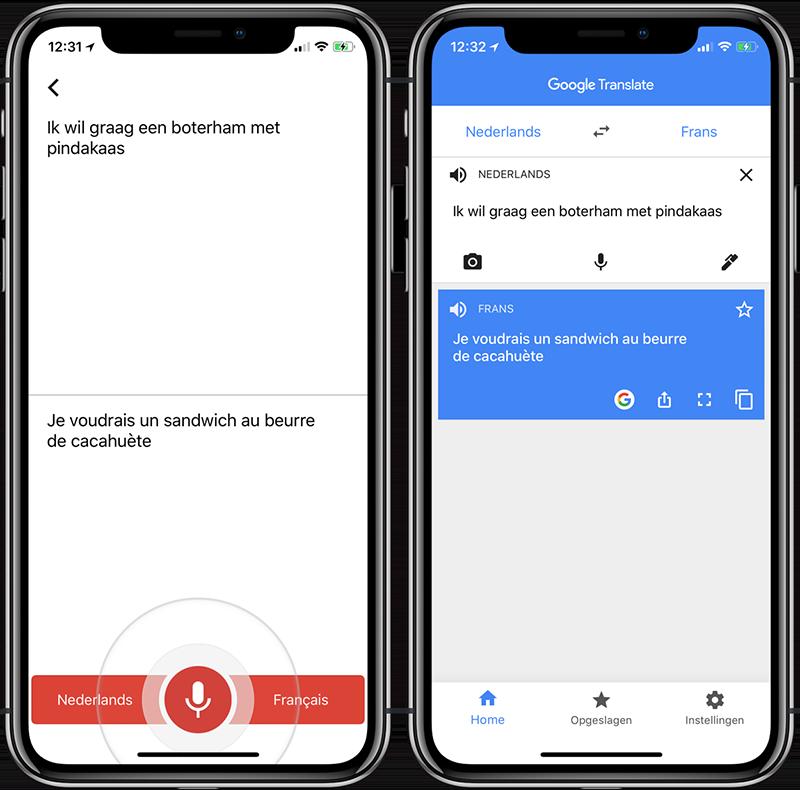 Google Translate: gesproken tekst vertalen