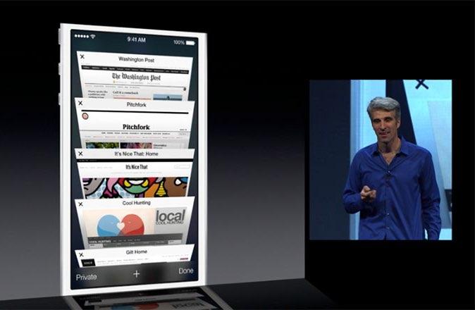 iCloud tabbladen